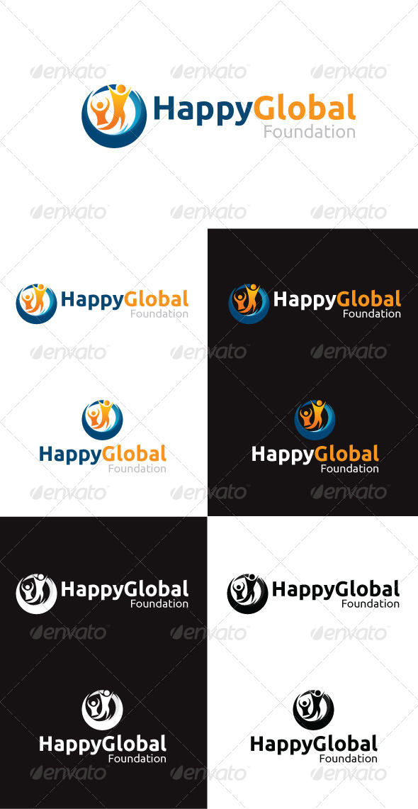 GraphicRiver Happy Global Foundation Logo Template 4292451