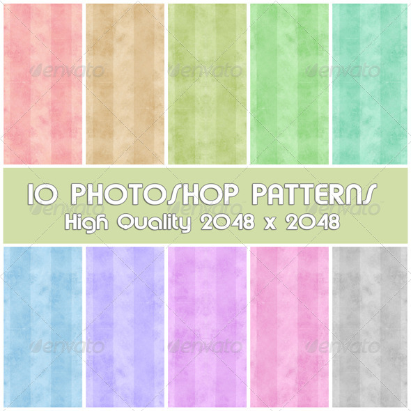 GraphicRiver 10 Photoshop Patterns Set 06 4292538