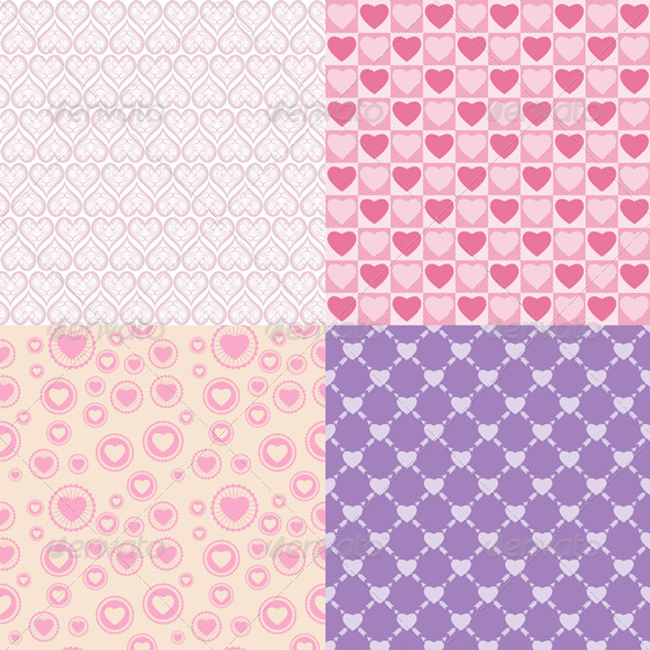 GraphicRiver Pattern Romantic 4292547