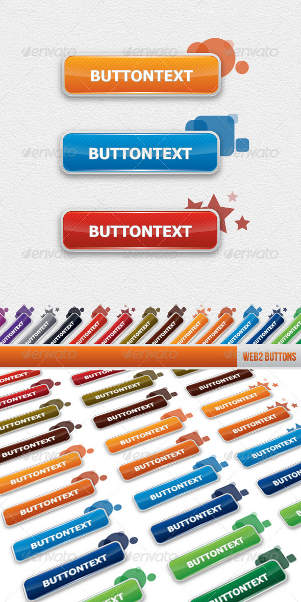 GraphicRiver Stylised Web 2 Buttons 4292674