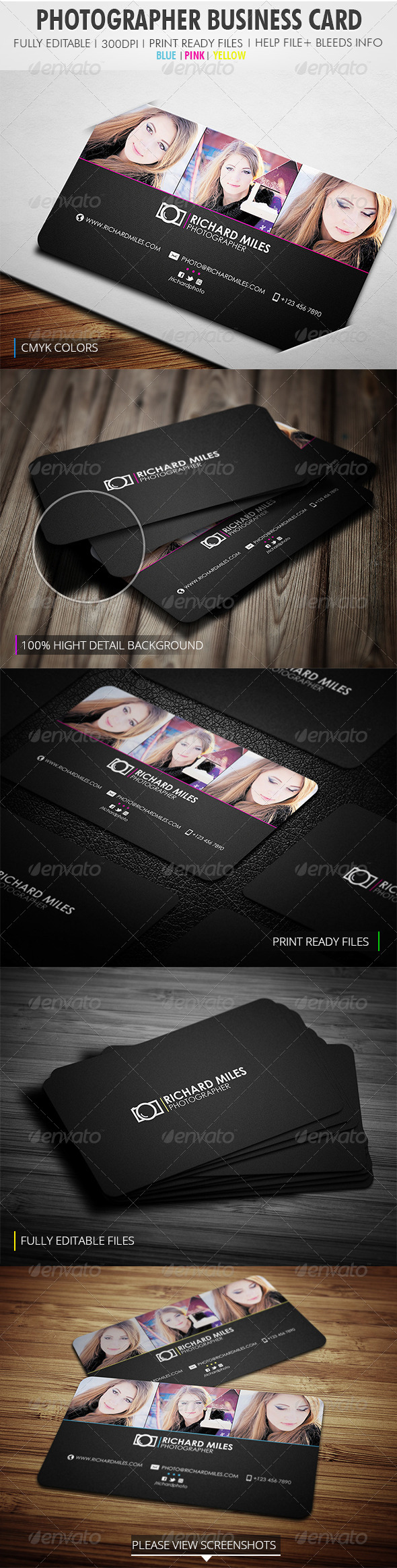 GraphicRiver Photography Business Card 4117956