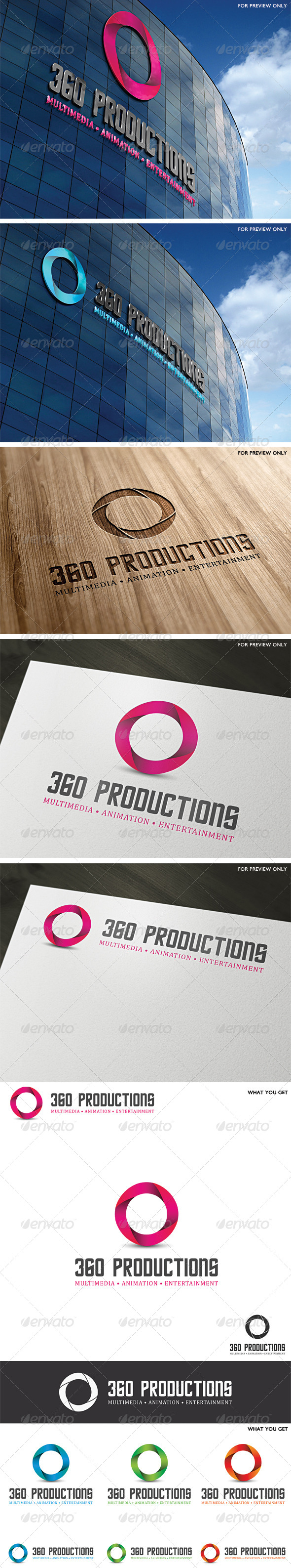 360 Productions Logo Template - Vector Abstract