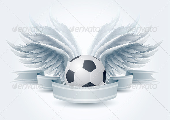 GraphicRiver Soccer Ball Wing Banner 4293876