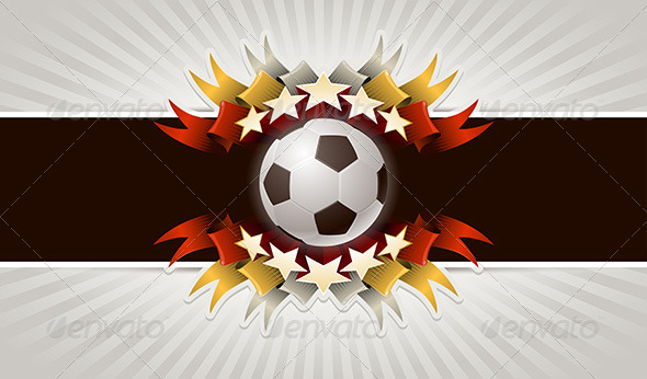 GraphicRiver Soccer Ball Stars Banner 4293882