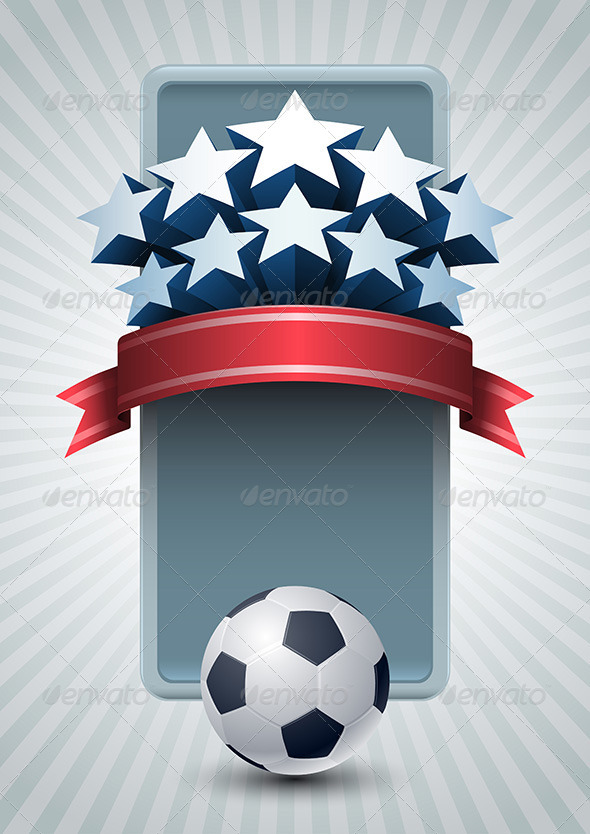 GraphicRiver Soccer Ball and Stars Banner 4293907