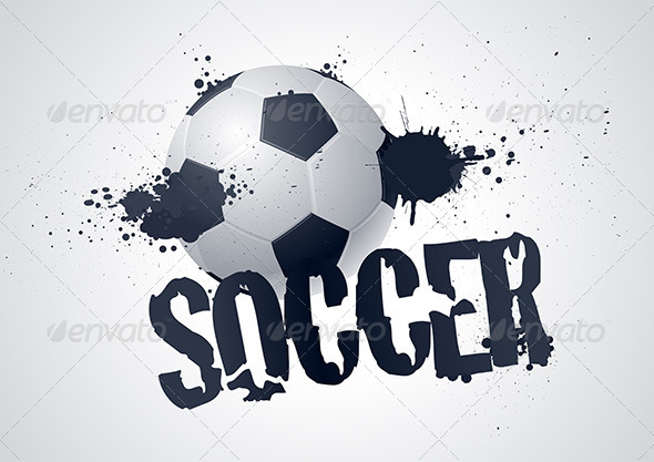 GraphicRiver Vector Soccer Ball Typographic Design 4293909