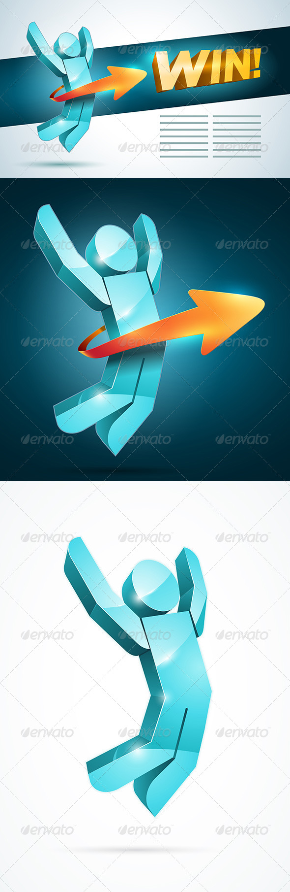 GraphicRiver Jumping Winner Man 4294339