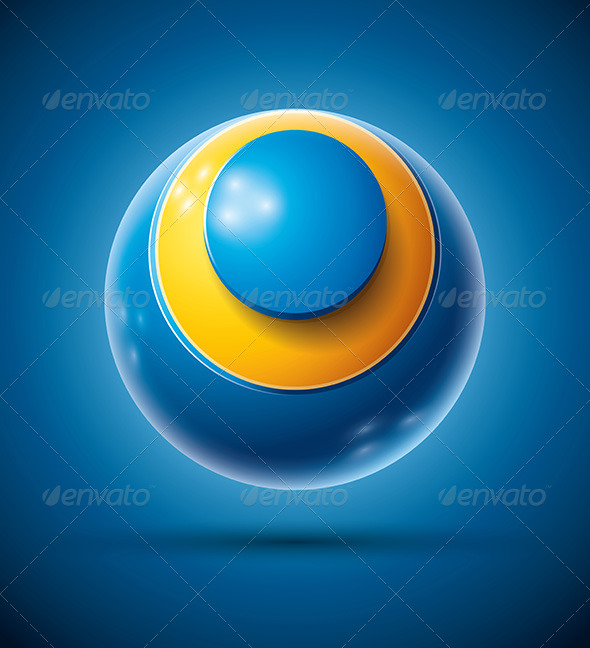 GraphicRiver 3D Sphere with Letter O 4294464