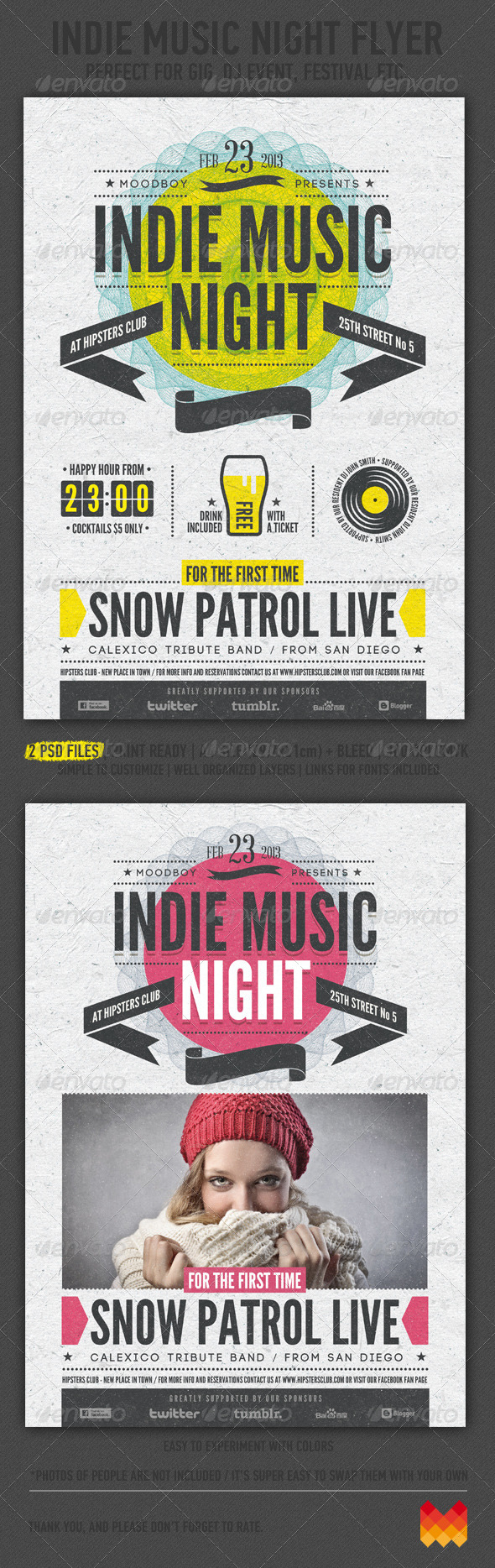 Indie Music Night Flyer Poster