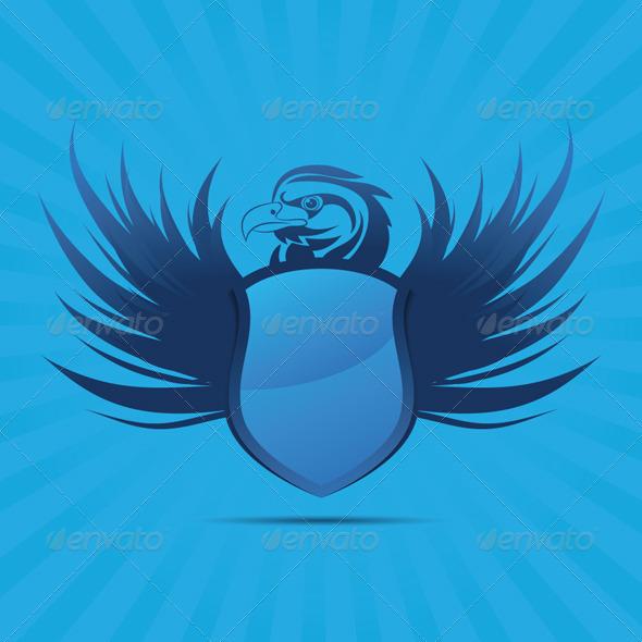 GraphicRiver Blue Shield Eagle 4294578