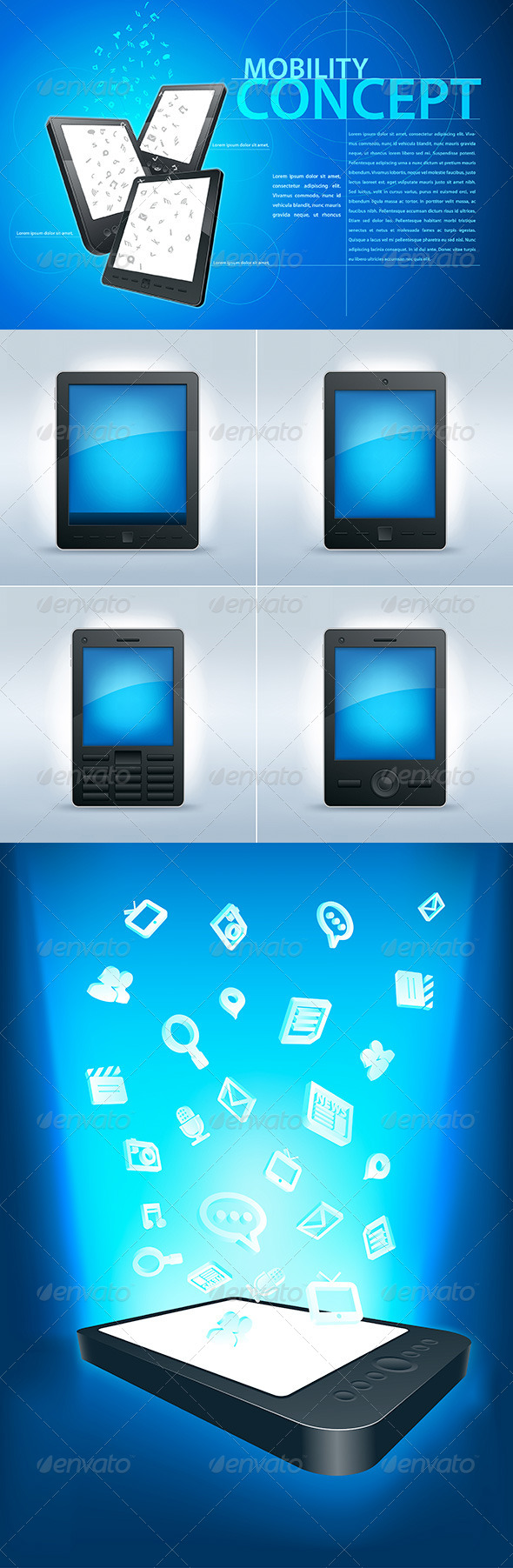 GraphicRiver Mobility Communication Set 4294579