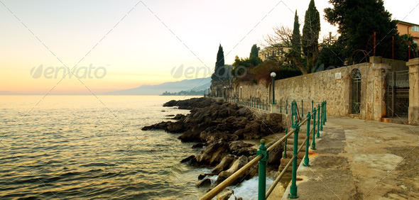 Volosko coast - Stock Photo - Images