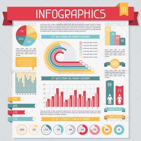 GraphicRiver Infographics Elements Collection Set 1 4294839