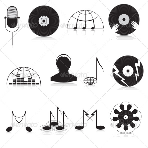 GraphicRiver Music Icons 4296559