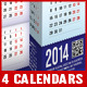 2014 - 4 Prism Type Desktop Calendars (A4)  - GraphicRiver Item for Sale