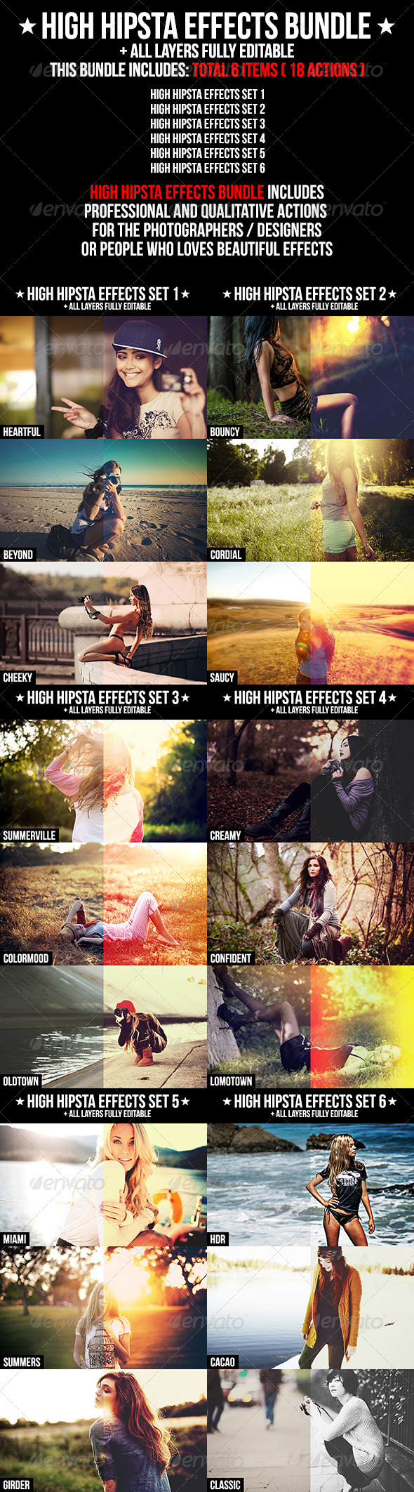 High Hipsta Effects Bundle - Photo Effects Actions