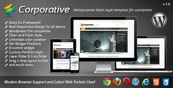 ThemeForest Corporative Responsive Wordpress Template 4297430