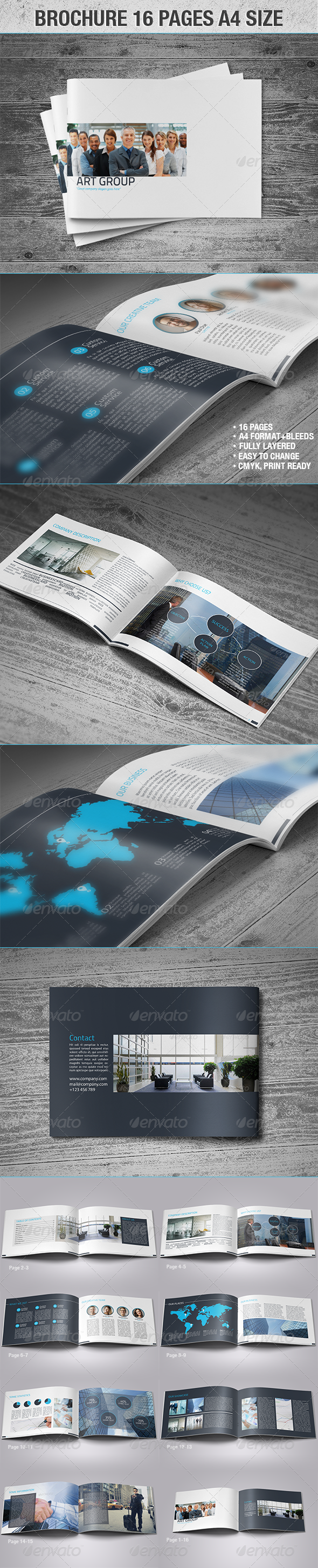 GraphicRiver Brochure 16 Page A4 Size 4297653