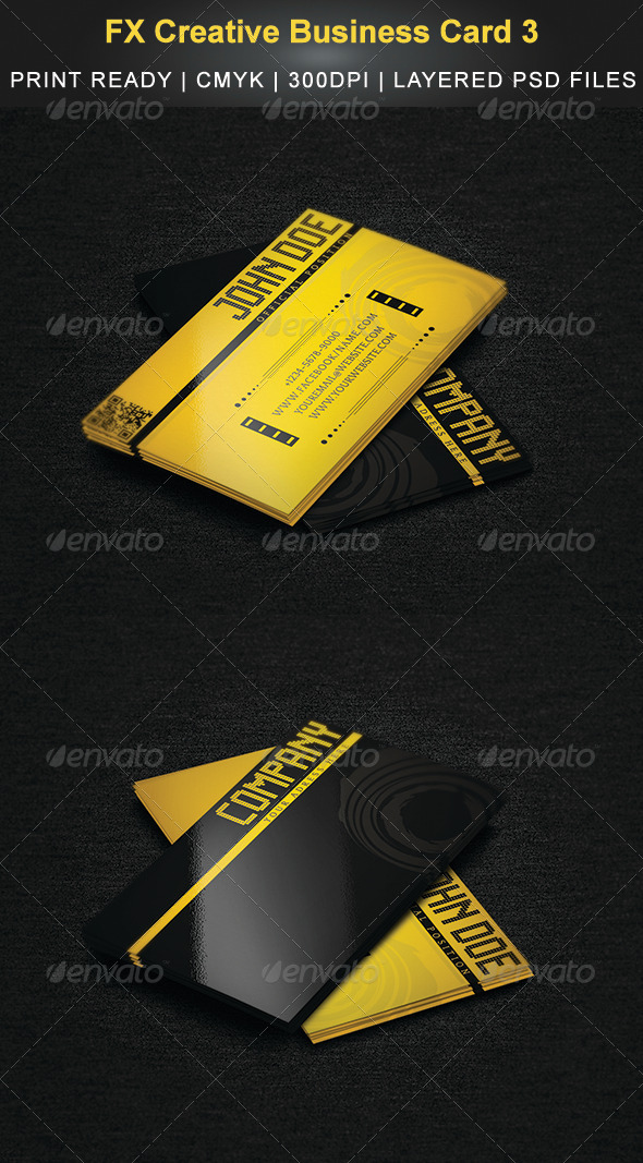 FX Creative Business Card 3 - Creative Business Cards