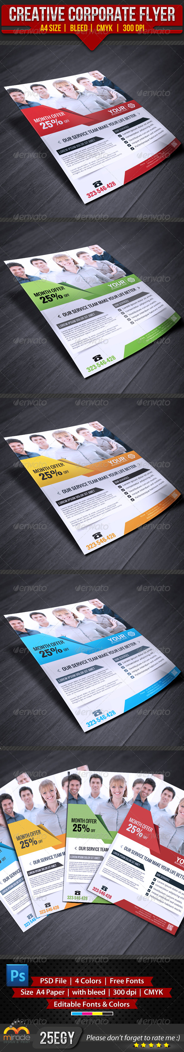 GraphicRiver Creative Corporate Flyer 4297917