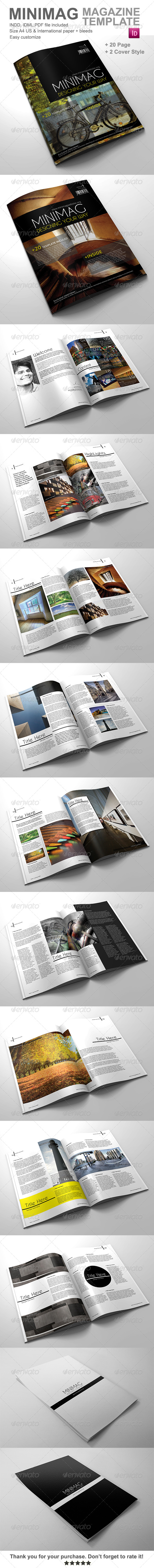 GraphicRiver Gstudio Minimag Magazine Template 4298353