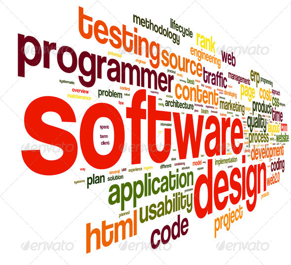 Software design concept in tag cloud - Stock Photo - Images