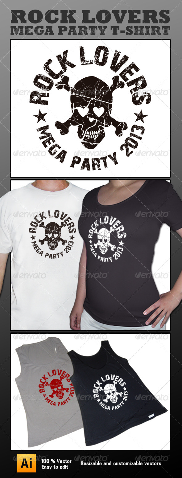 GraphicRiver Skull Lover T-shirt 4182732
