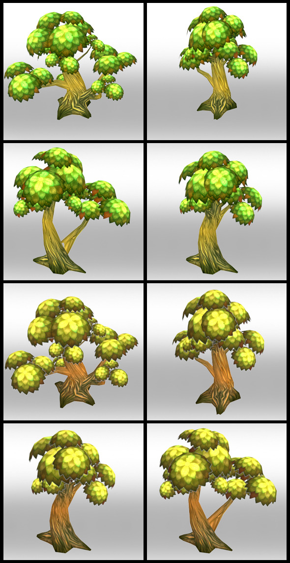 Lowpoly Trees Toon pack 1