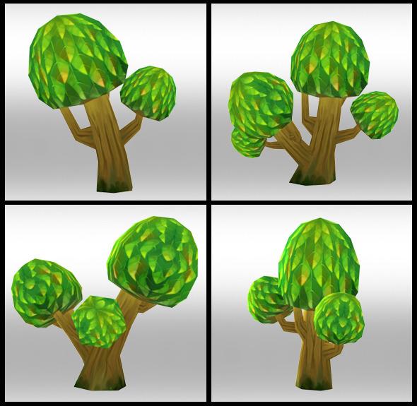 3DOcean Lowpoly Trees Toon pack 3 4298588