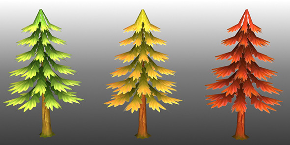 Lowpoly Trees Toon pack 4