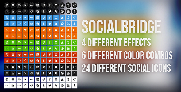 CodeCanyon SocialBridge CSS3 Social Buttons 4298759