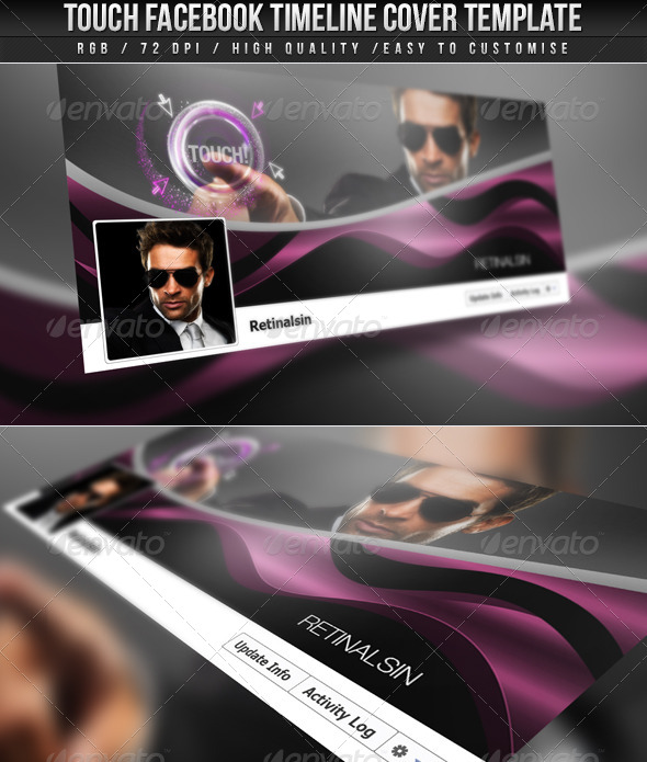 GraphicRiver Touch FB Timeline Cover 4298767