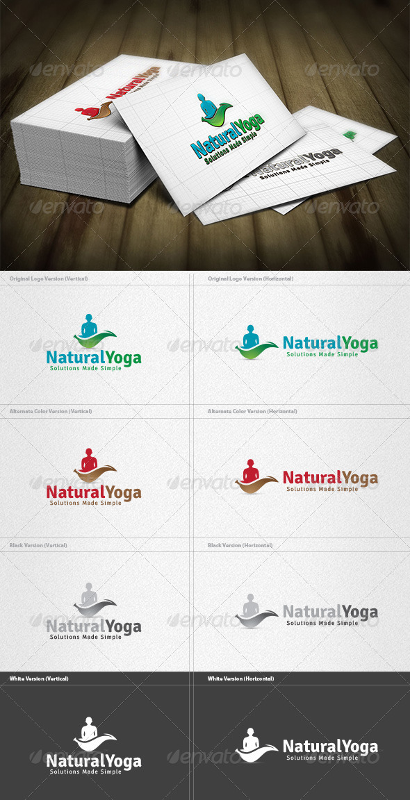 GraphicRiver Natural Yoga Logo 4298834