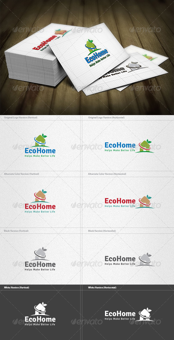 GraphicRiver Eco Home Logo 4298843