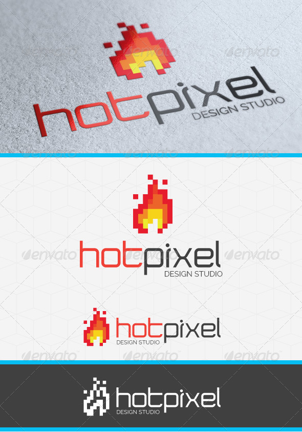 GraphicRiver Hot Pixel Logo Template 4298903
