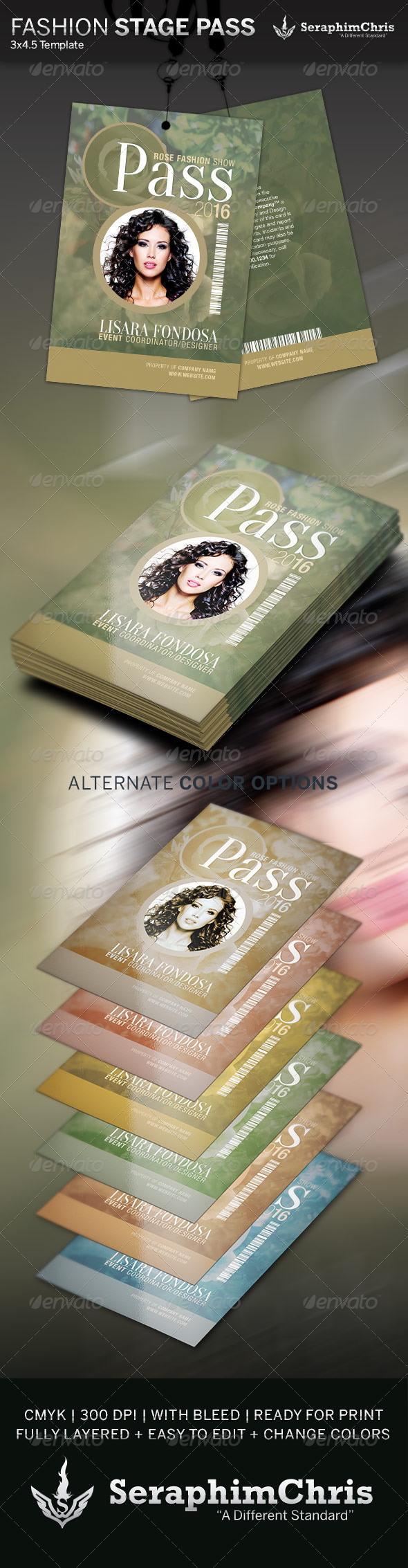 GraphicRiver Fashion Show Stage Pass Template 4299013