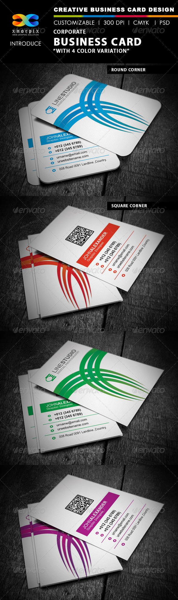 GraphicRiver Corporate Business Card 4130226