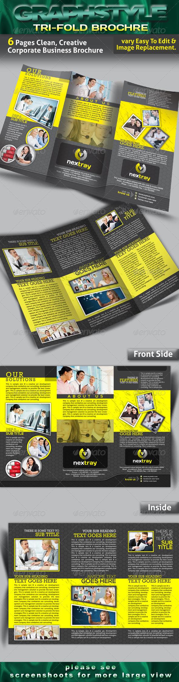 nextray Tri-fold Corporate Business Brochure - Brochures Print Templates