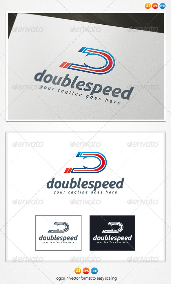 GraphicRiver Double Speed Logo 4199613
