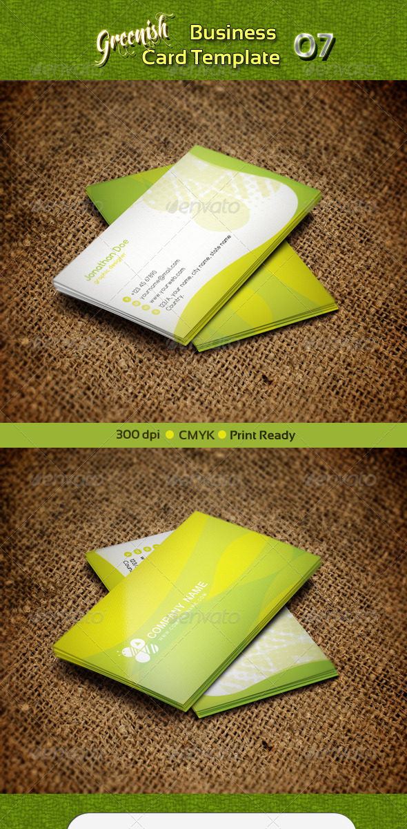 GraphicRiver Greenish Business Card 07 4299102