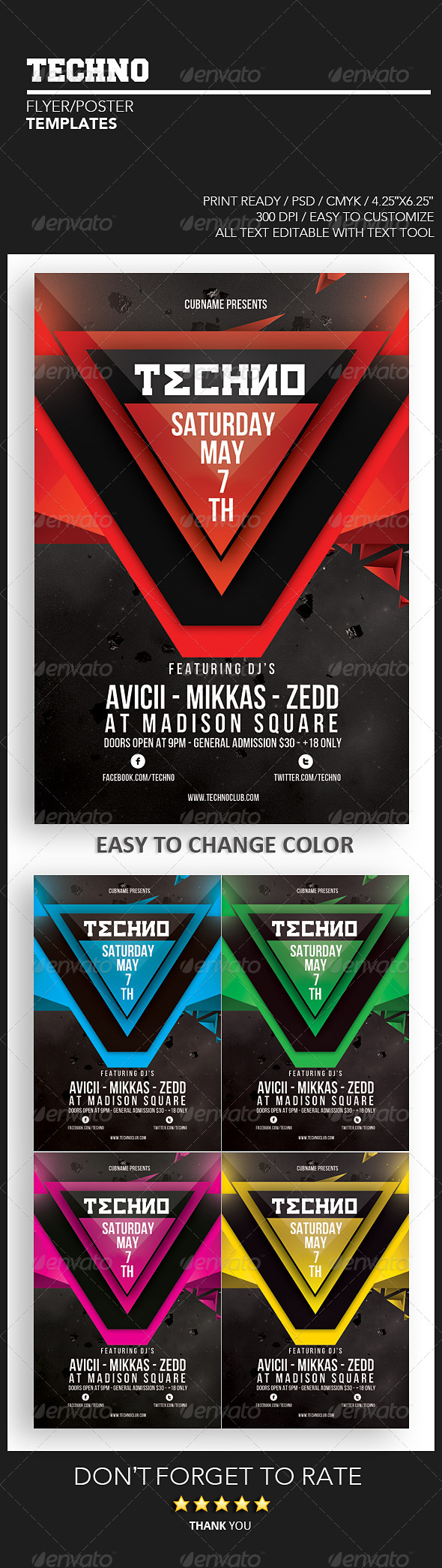 GraphicRiver Techno Flyer 4299198