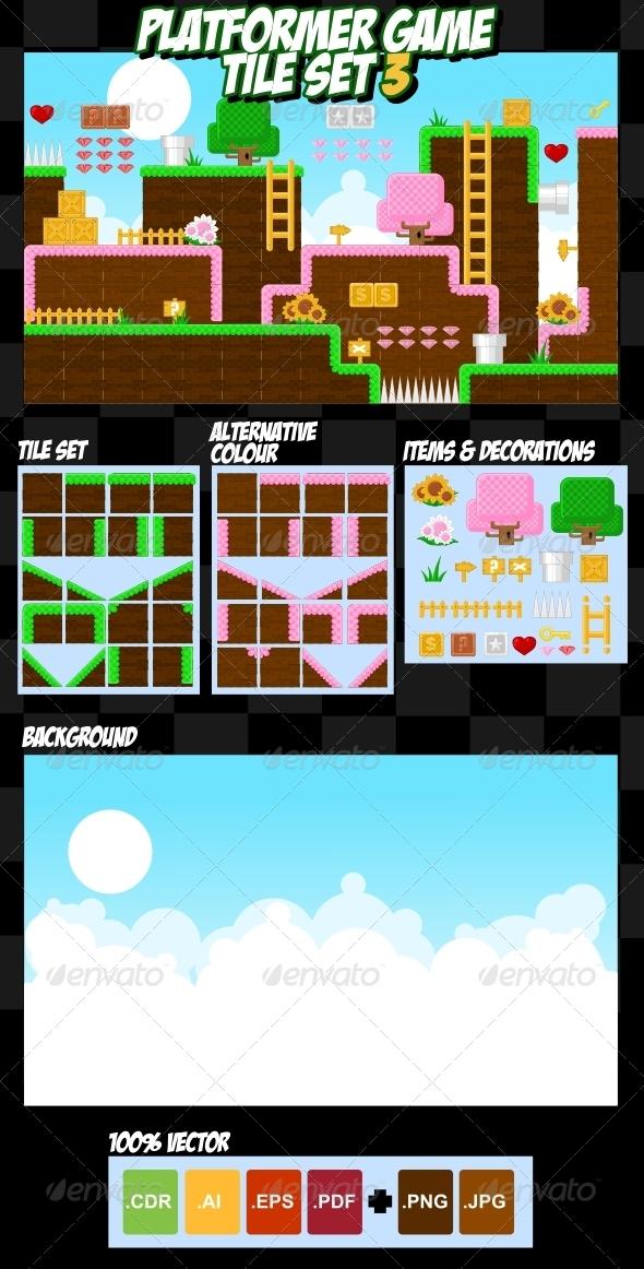 GraphicRiver Platformer Game Tile Set 3 4299201