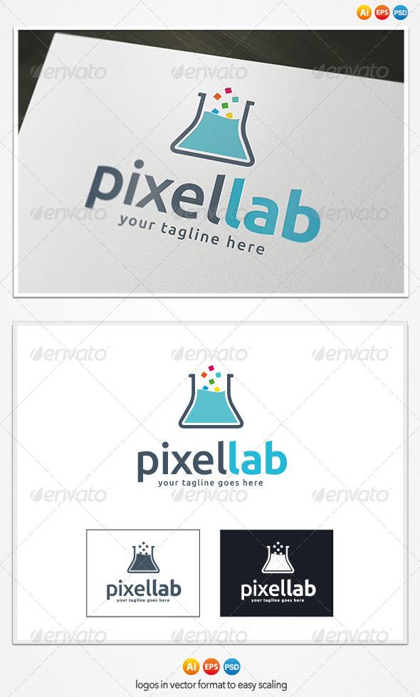 GraphicRiver Pixel Lab Logo 4199081