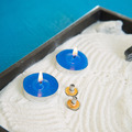 Zen little garden with blue candles and moxa - PhotoDune Item for Sale