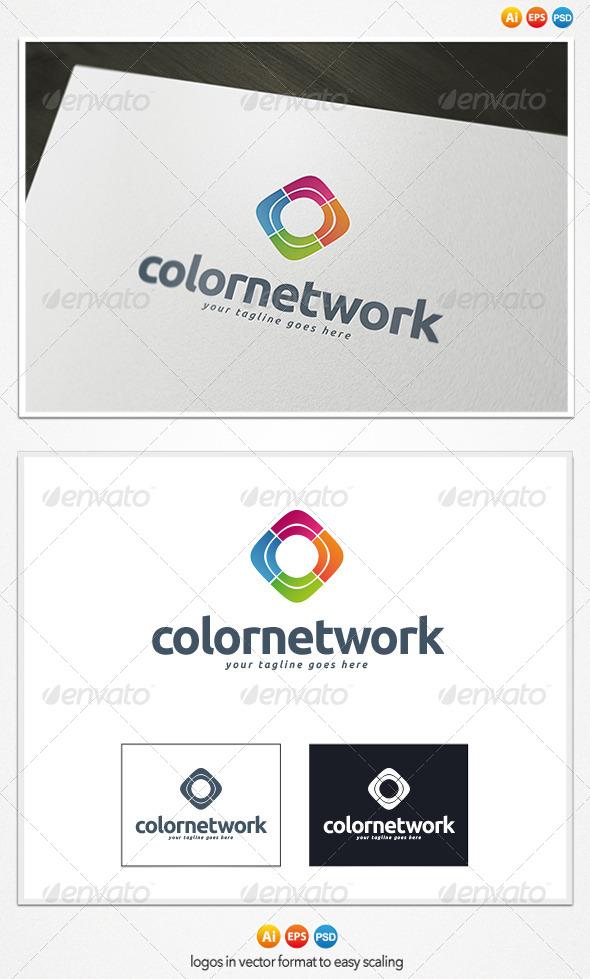 GraphicRiver Color Network Logo 4299787