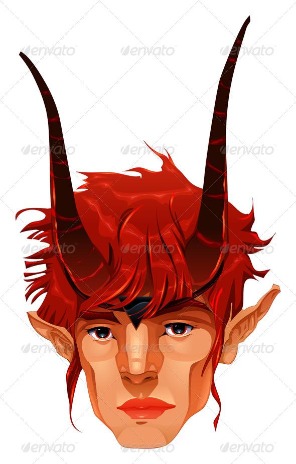 GraphicRiver Mythological Demon Head 4299811