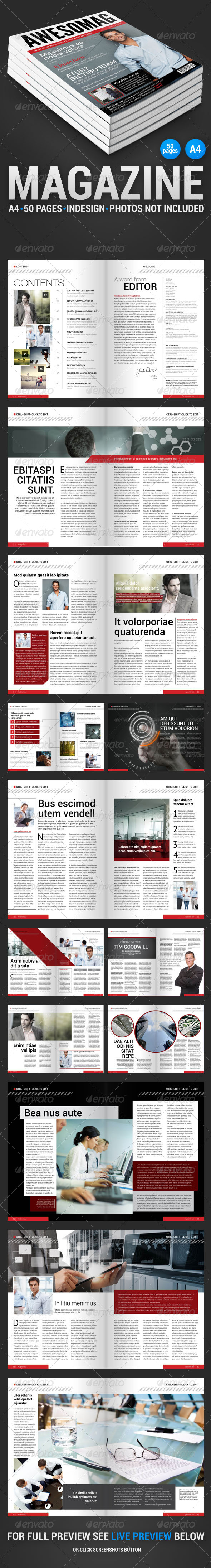 GraphicRiver AwesoMag 50 pages magazine 4299849