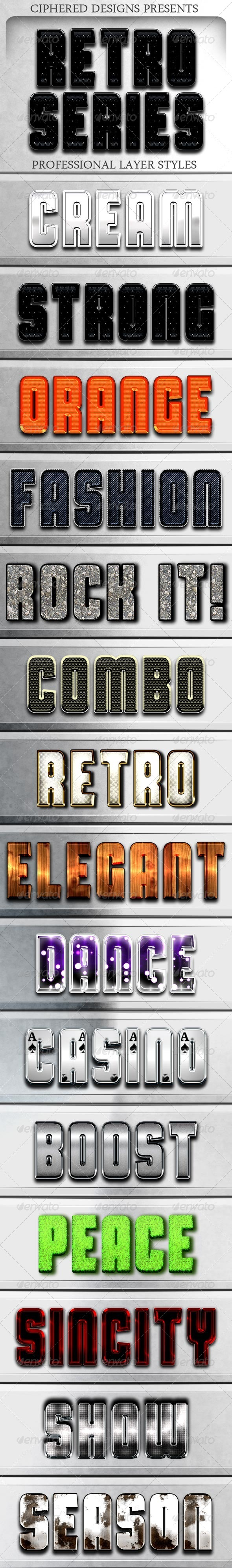GraphicRiver Retro Series Professional Layer Styles 4299947