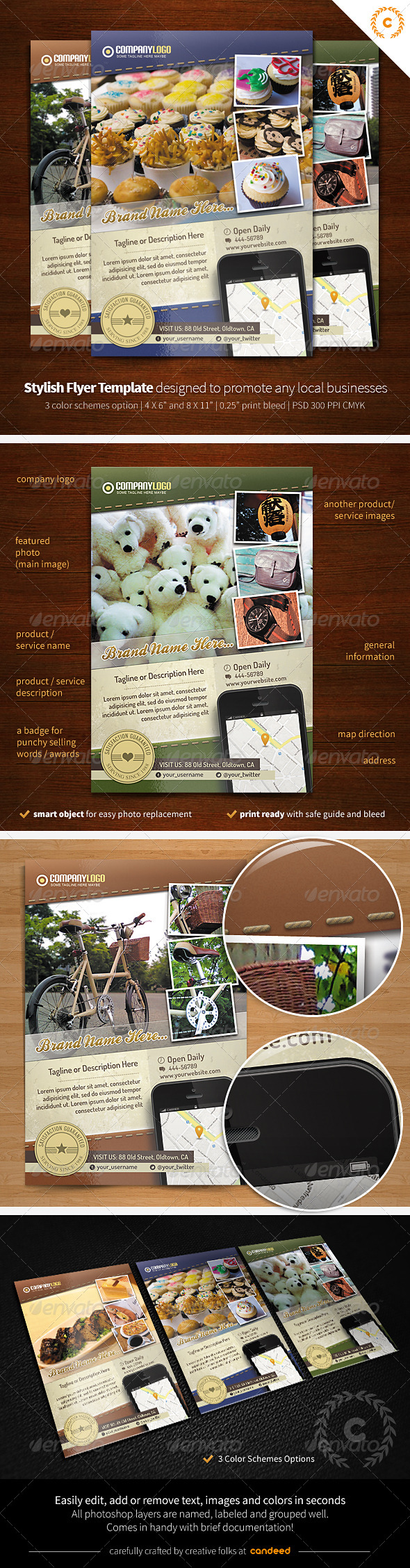 Oldtown - Local Business Flyer / Poster Template - Corporate Flyers