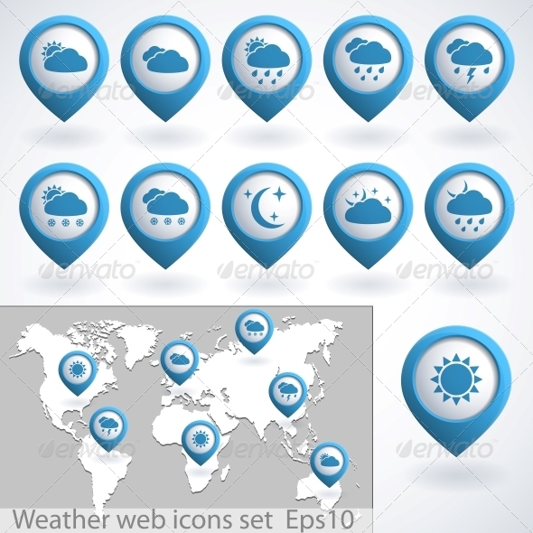 GraphicRiver Weather Icons Set 4301202